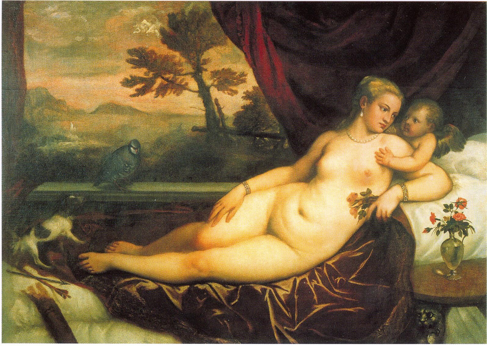 Titian - Venus and Cupid with a Partridge
