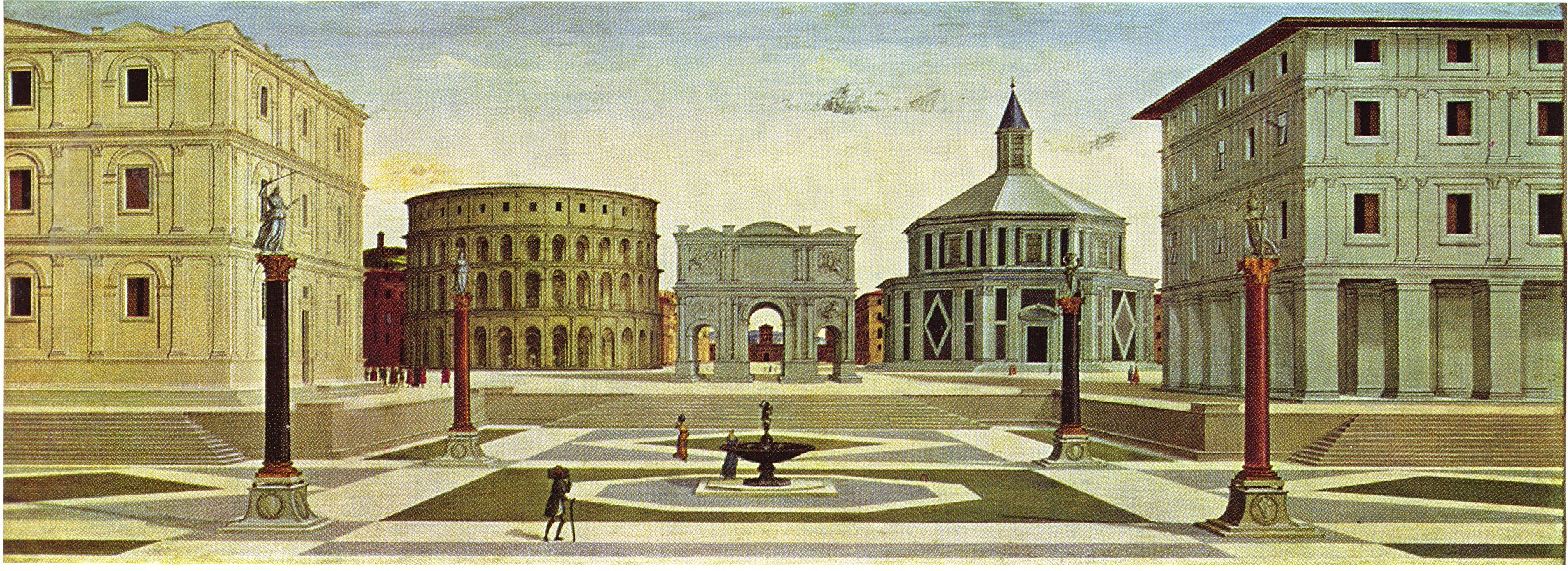 Luciano Laurana (1420 - 1479) - Perspective architecturale