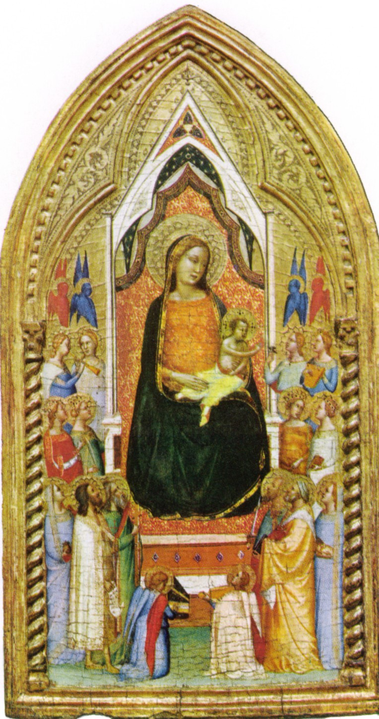 Bernardino Daddi - Madonna with angels and saints