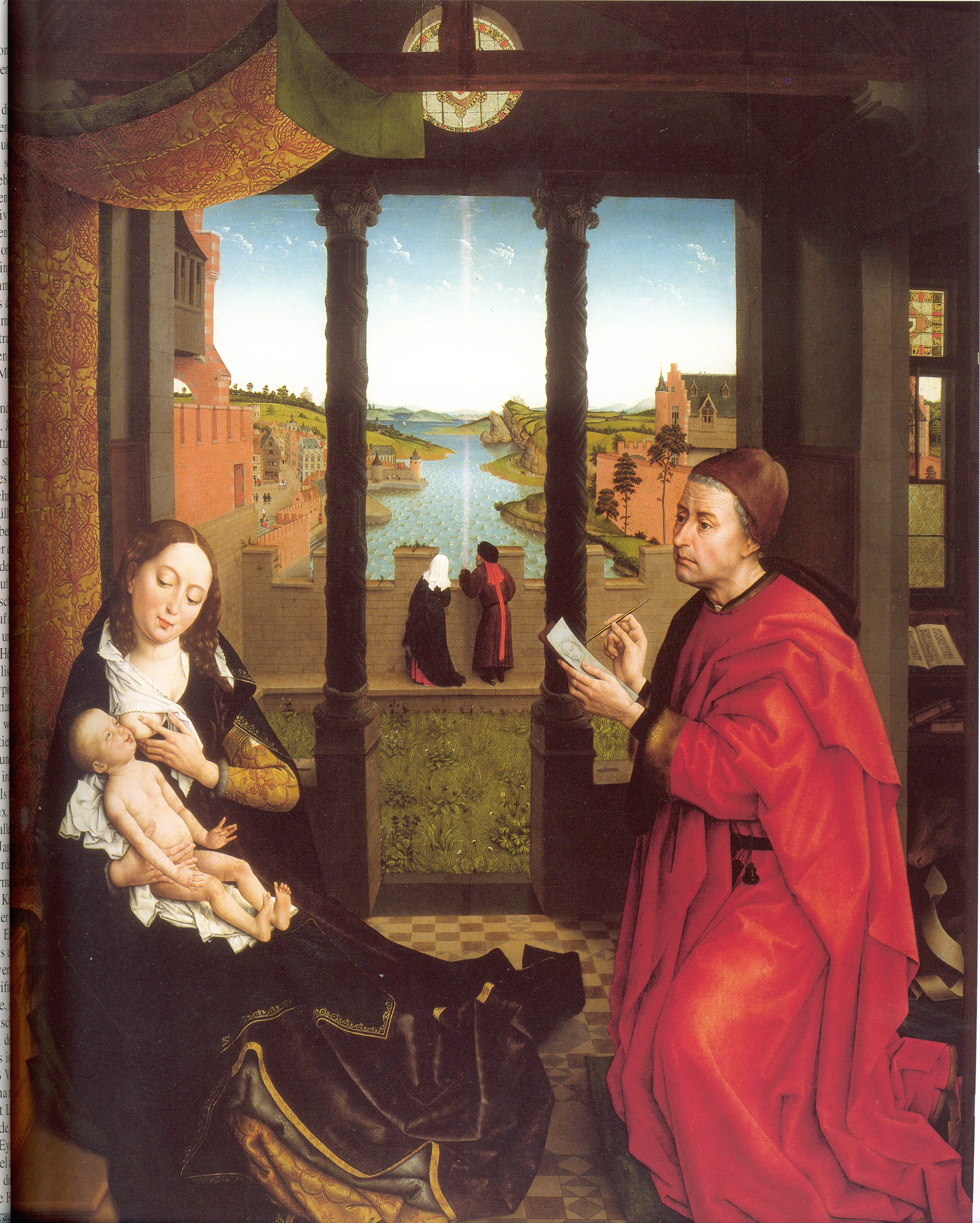 Rogier Van der Weydent - Saint-Luc painting the portrait of the Virgin